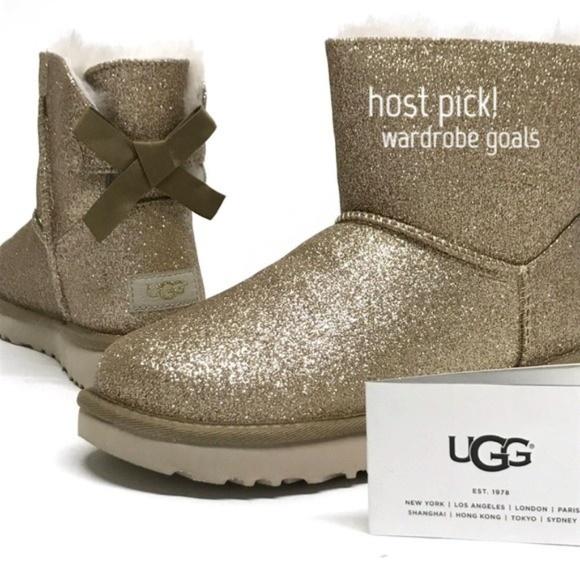 64701eefc9e UGG Mini Bailey BOW SPARKLE Boots MANY SIZES! NIB NWT